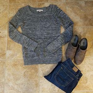 LOFT Loose knit gray sweater